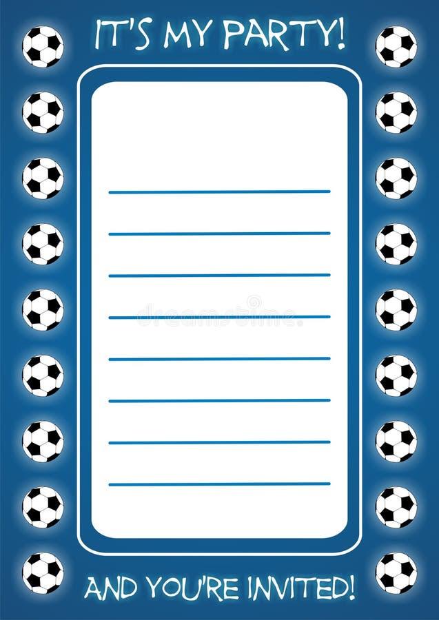 fotbollinbjudan fotografering för bildbyråer