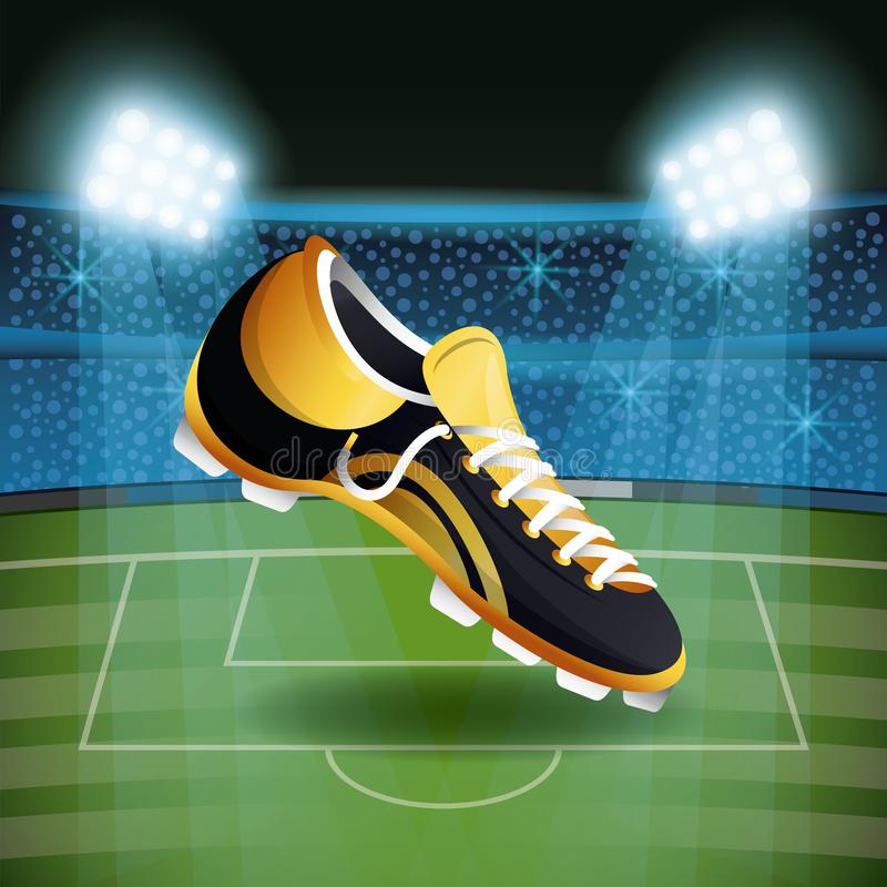 Fotbollkänga på stadion med fanlandskap vektor illustrationer