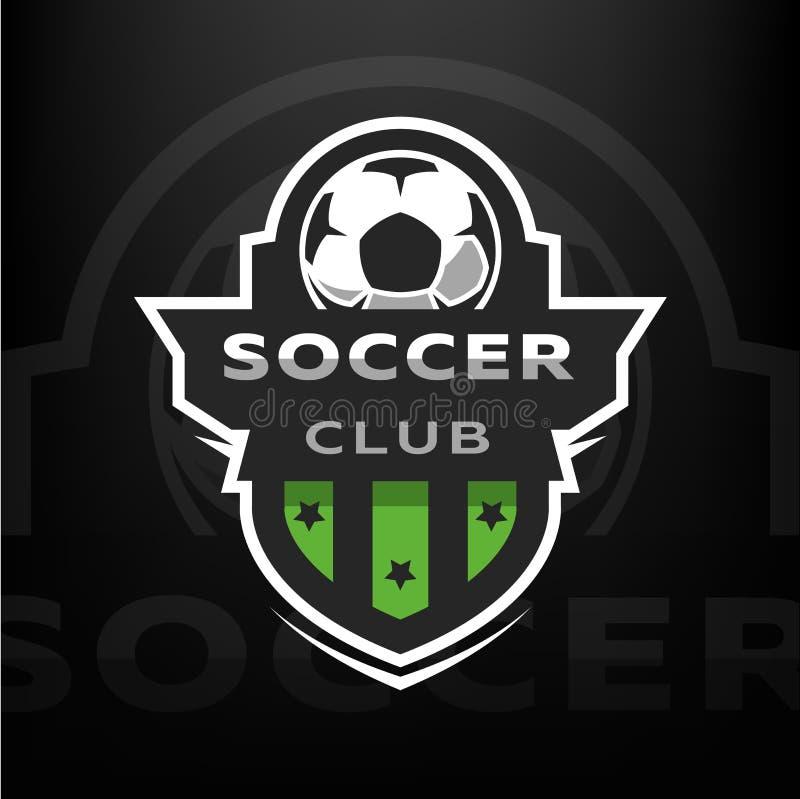 Fotbollklubba, sportlogo royaltyfri illustrationer
