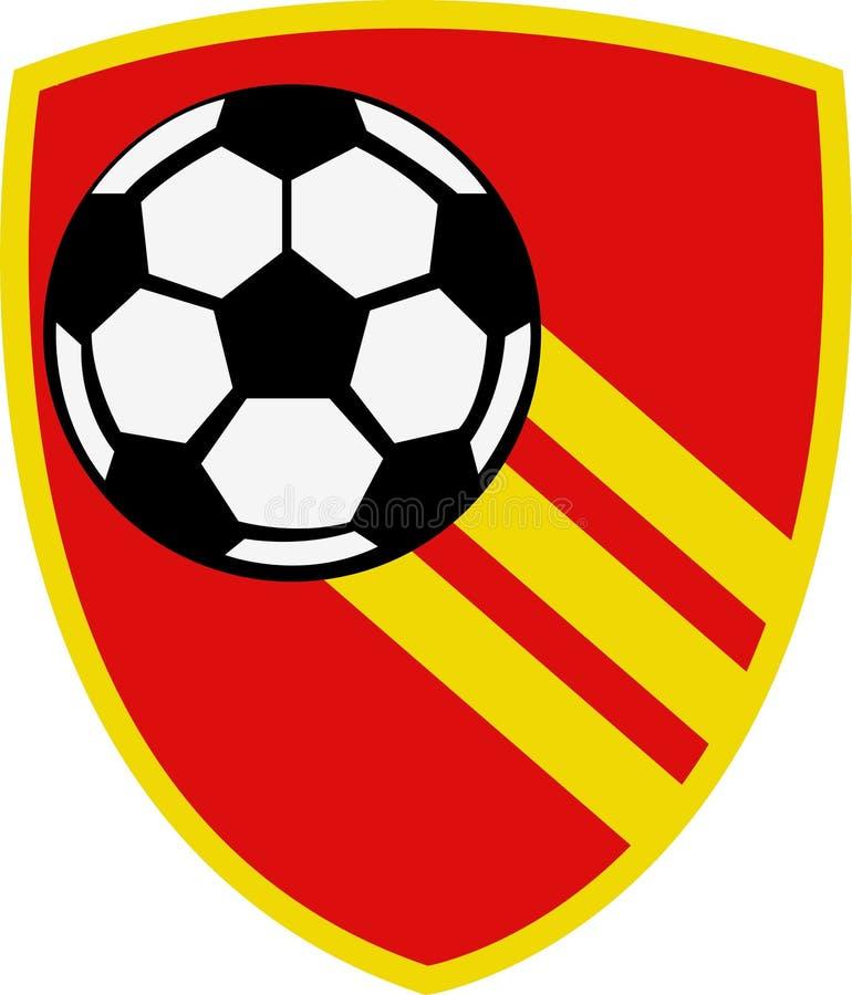 Fotbollklubbalogo royaltyfri illustrationer