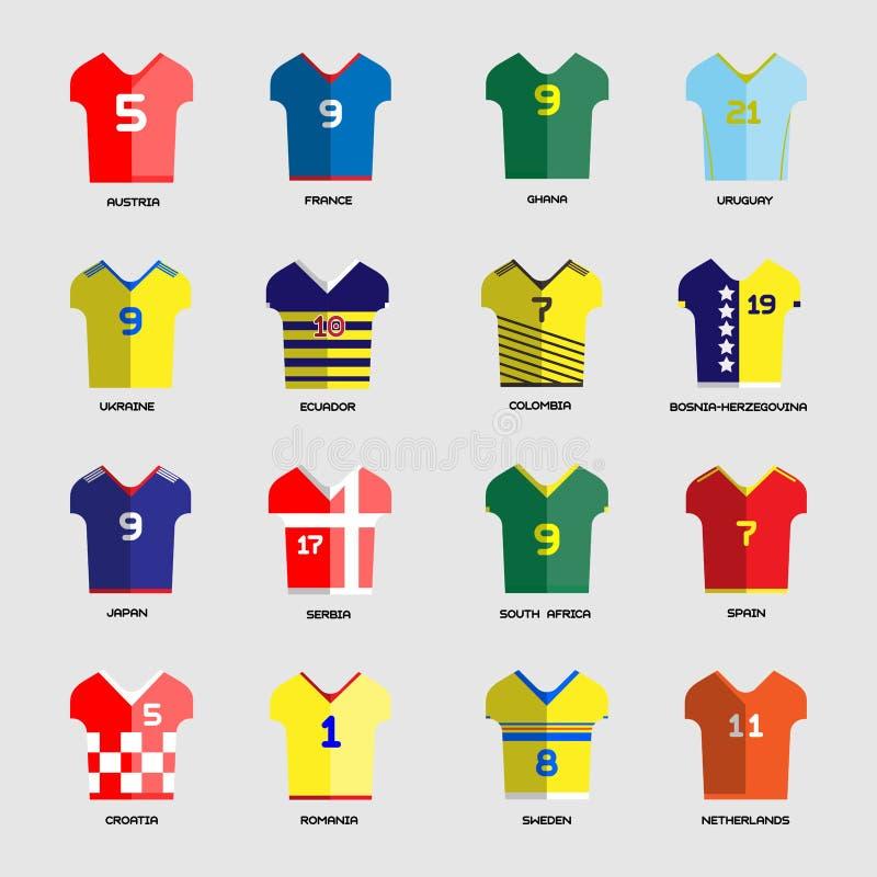 FotbollklubbaTeam Wear uppsättning royaltyfri illustrationer
