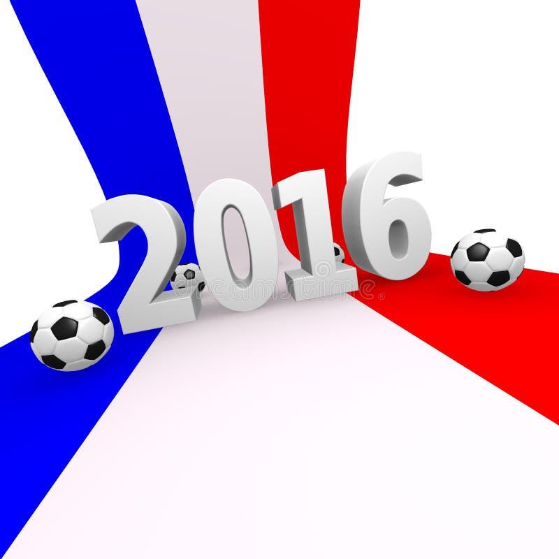Fotbollkonkurrens i Frankrike 2016 vektor illustrationer