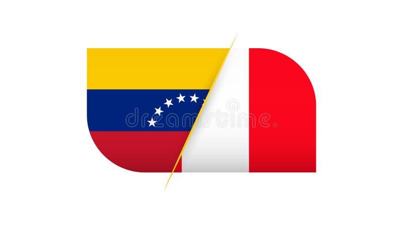 Fotbollkonkurrens Venezuela vs Peru vektor illustrationer