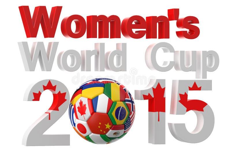 Fotbollkvinnors världscup Kanada 2015 royaltyfri illustrationer