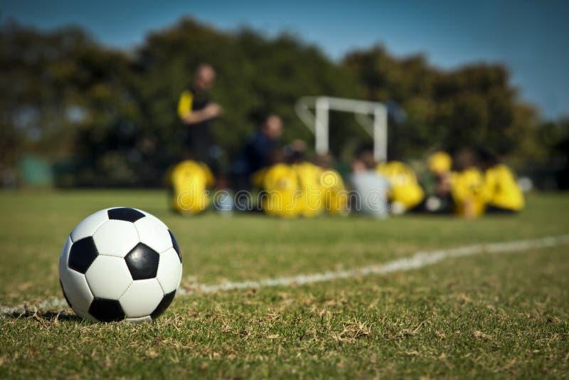 Fotbolllaget royaltyfri foto