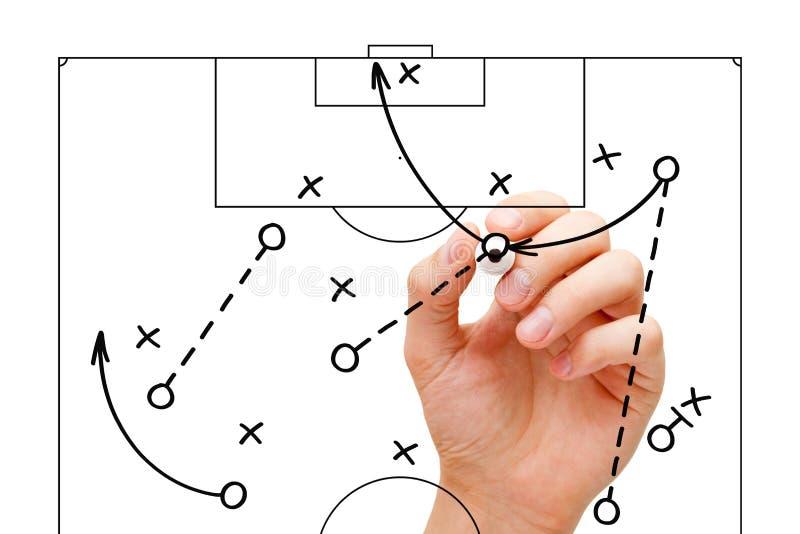 Fotbolllagledare Game Strategy royaltyfri bild