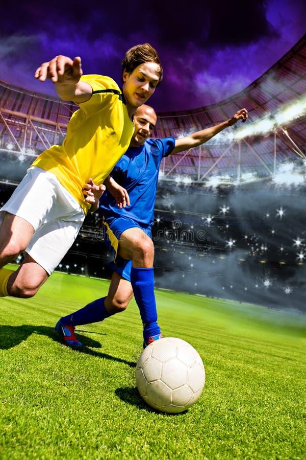 fotbolllek arkivfoton