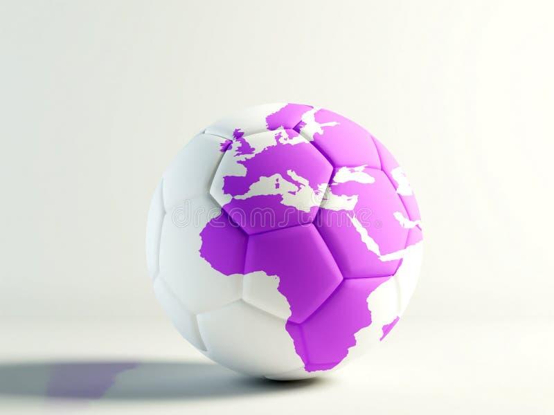 fotbolllilavärld vektor illustrationer