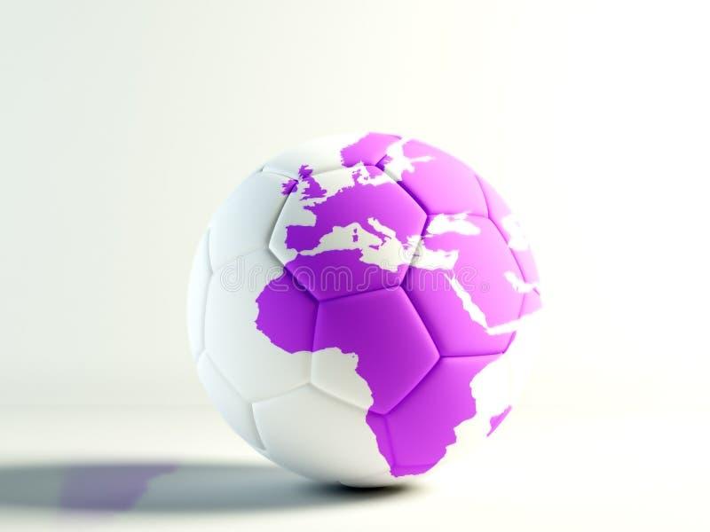 fotbolllilavärld royaltyfri illustrationer