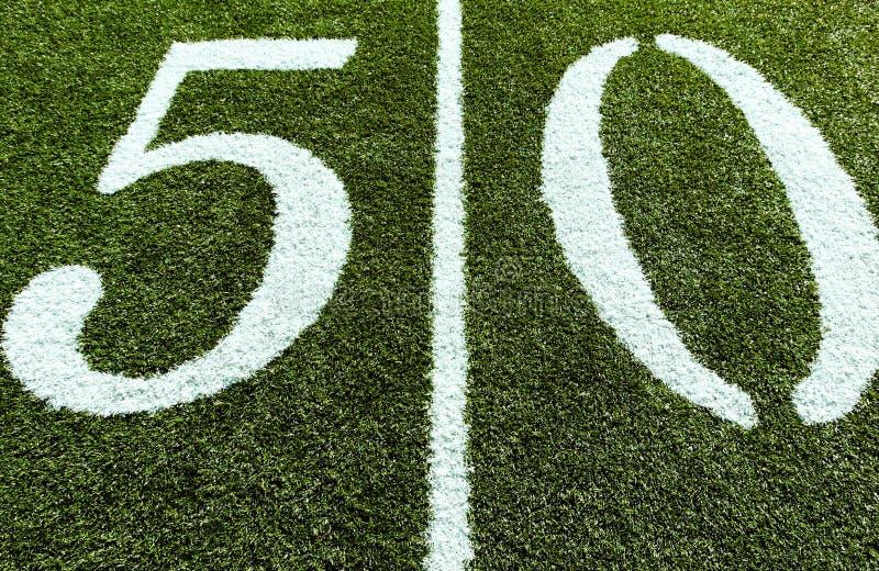 fotbolllinje gård för 50 fält royaltyfria foton