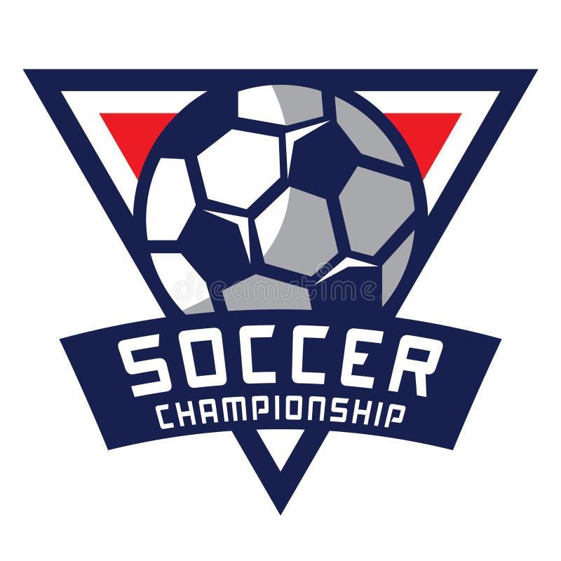 Fotbolllogo, Amerika logo royaltyfri illustrationer