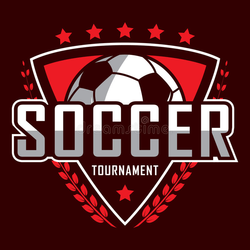 Fotbolllogo, Amerika logo, klassisk logo royaltyfri illustrationer