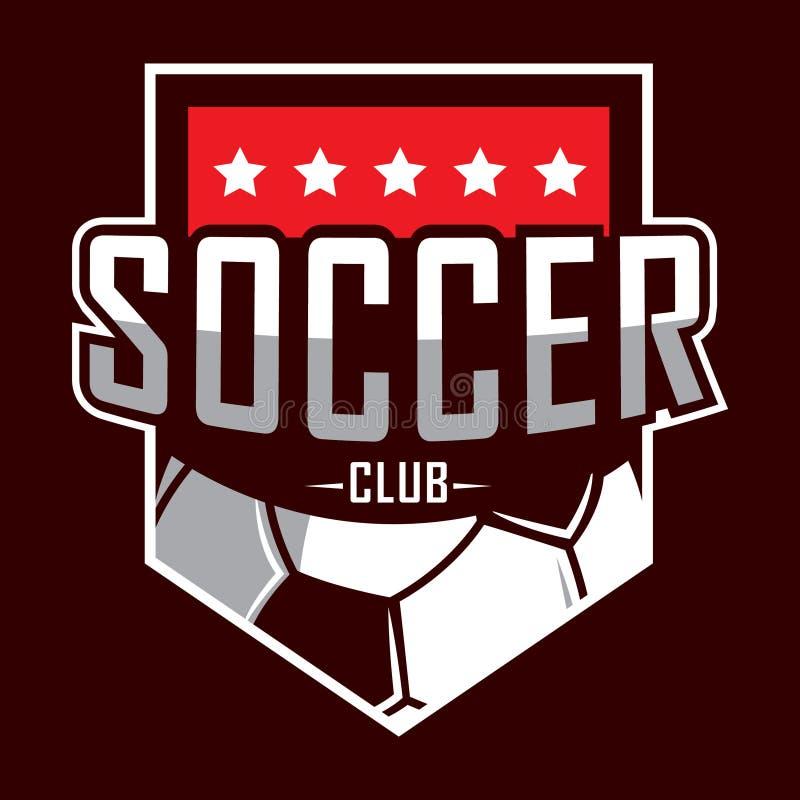 Fotbolllogo, Amerika logo, klassisk logo stock illustrationer