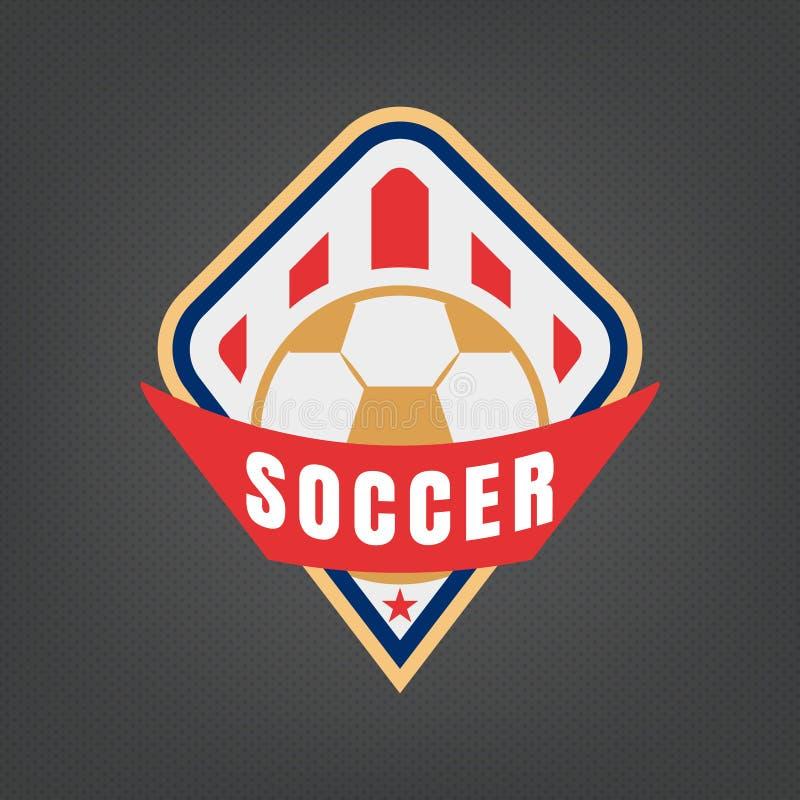 Fotbolllogodesign vektor illustrationer