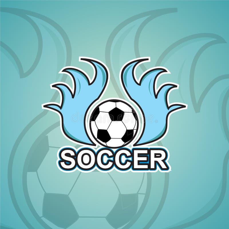 Fotbolllogomall royaltyfri fotografi