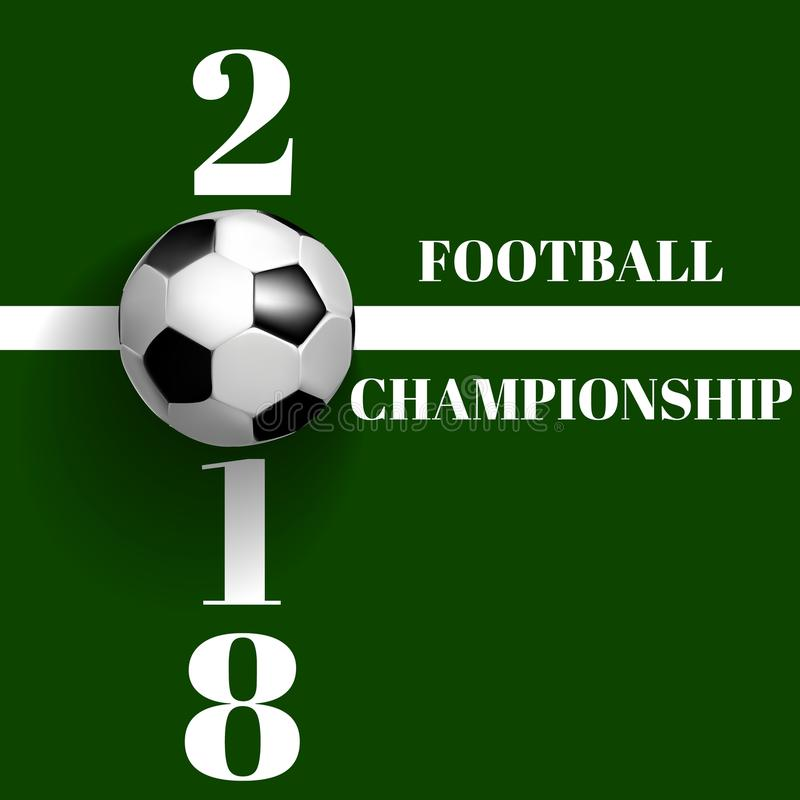 Fotbollmästerskapaffisch, reklamblad, banermall stock illustrationer
