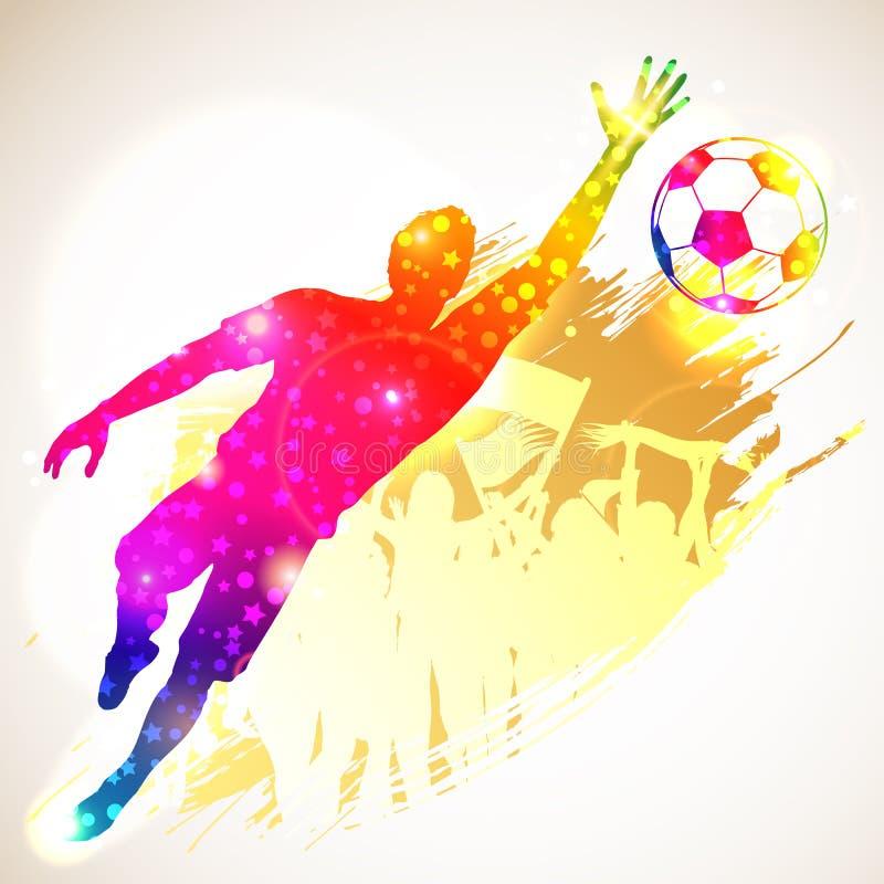 Fotbollmålvakt royaltyfri illustrationer