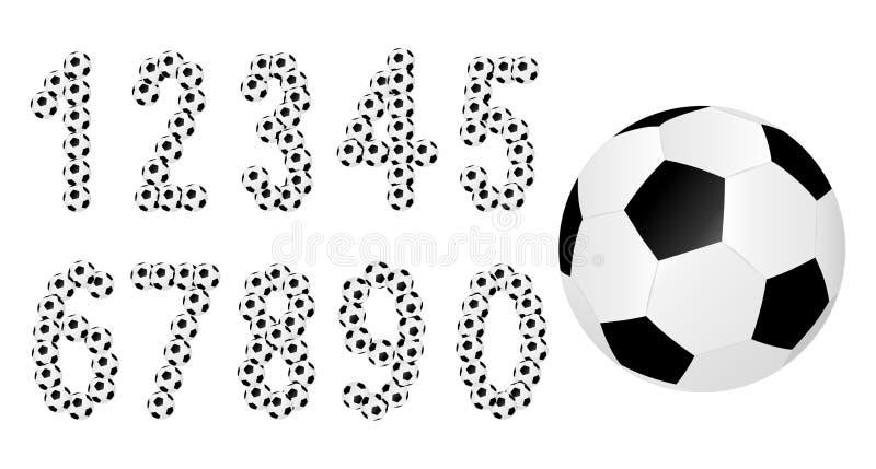 Fotbollnummer royaltyfri illustrationer
