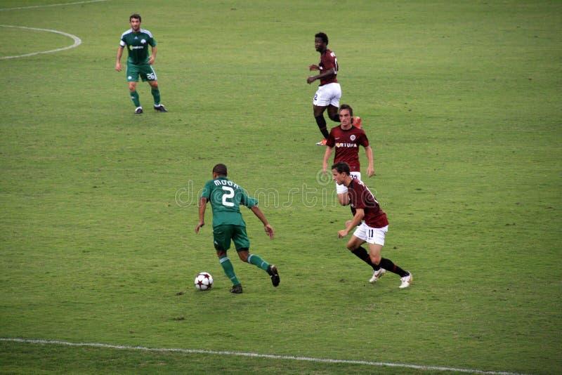 Fotbollpanathinaikos Sparta Vs Redaktionell Fotografering för Bildbyråer