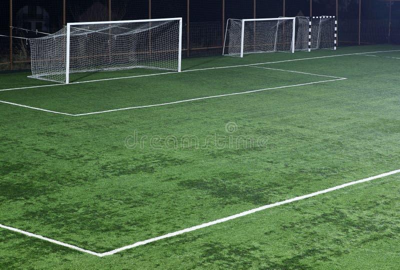 fotbollpitch arkivfoto