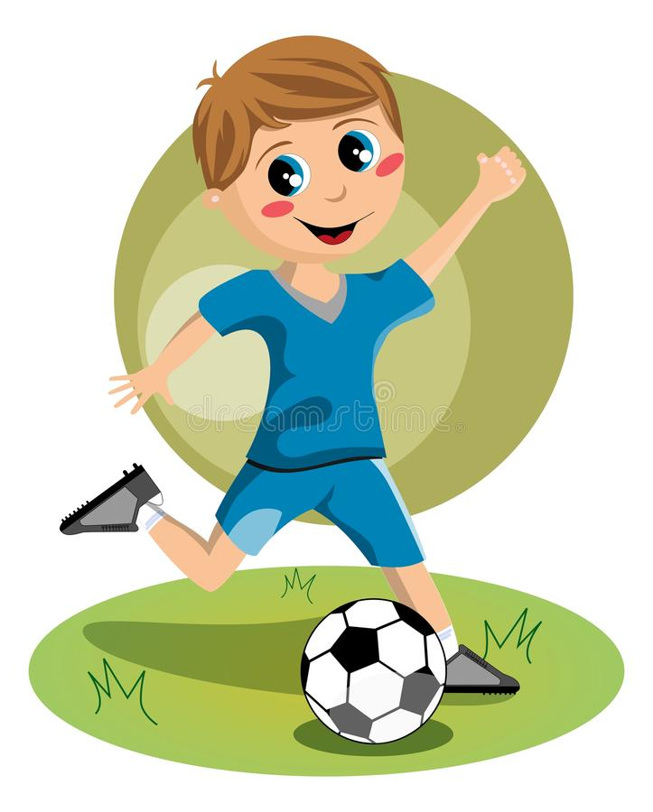Fotbollpojke stock illustrationer