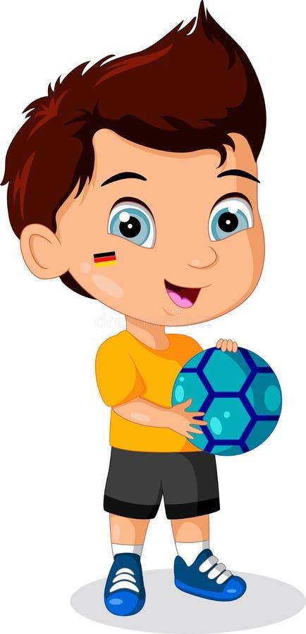 Fotbollpojke för liten unge stock illustrationer