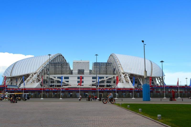Fotbollsarena Fisht i Sochi, Ryssland royaltyfri foto