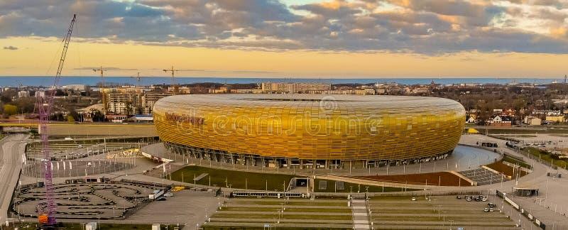Fotbollsarena i Gdansk arkivfoton