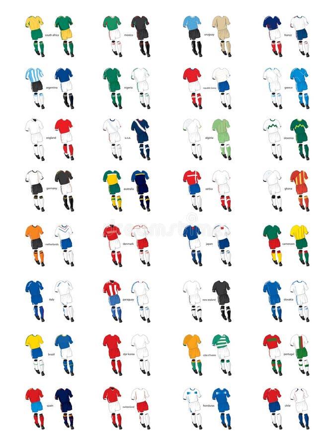 fotbollsats vektor illustrationer
