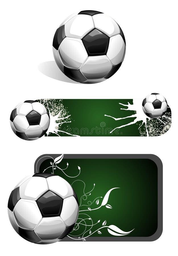 fotbollset vektor illustrationer