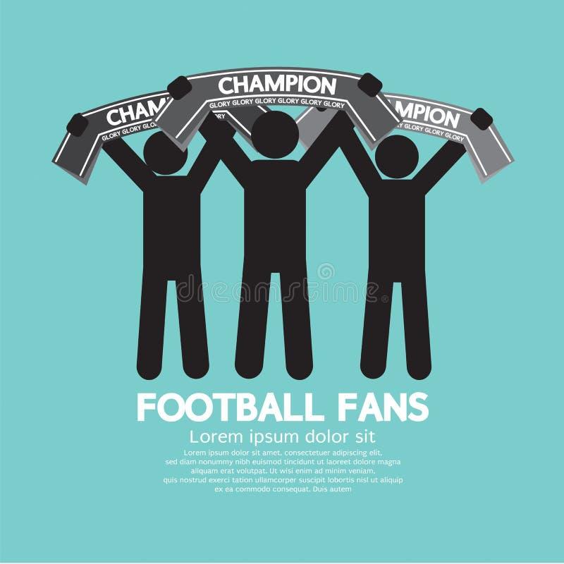 Fotbollsfan med mästareScarves stock illustrationer