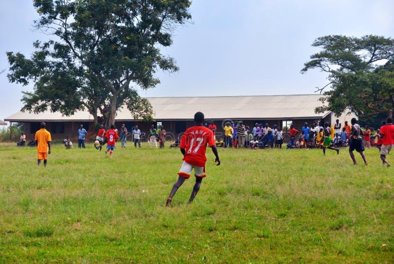 Fotbollsmatch arkivbilder