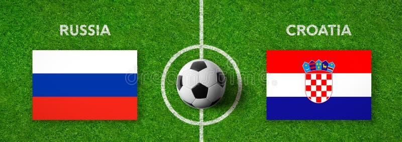 Fotbollsmatch Ryssland vs croatia royaltyfri illustrationer