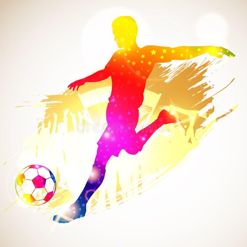 Fotbollspelare vektor illustrationer