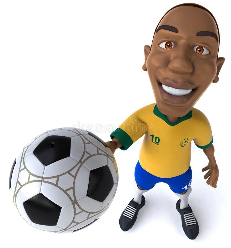 Fotbollspelare royaltyfri illustrationer