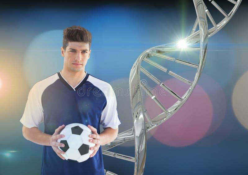 fotbollspelare med järndna-kedjan och ljusbakgrund vektor illustrationer