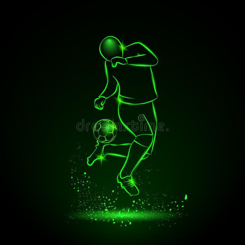 Fotbollspelaren gör en fint royaltyfri illustrationer