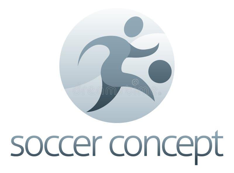 Fotbollsportbegrepp vektor illustrationer