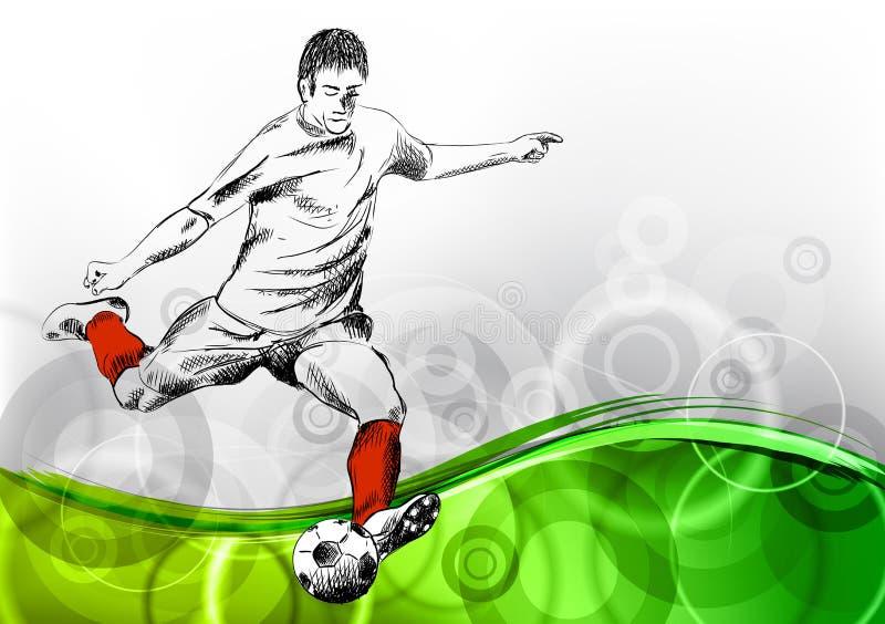 fotbollsspelare stock illustrationer