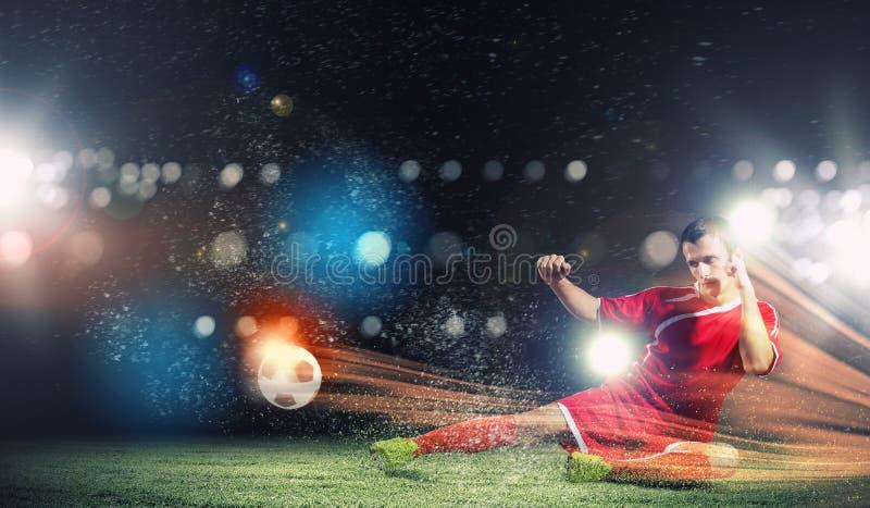 Fotbollsspelare arkivbilder