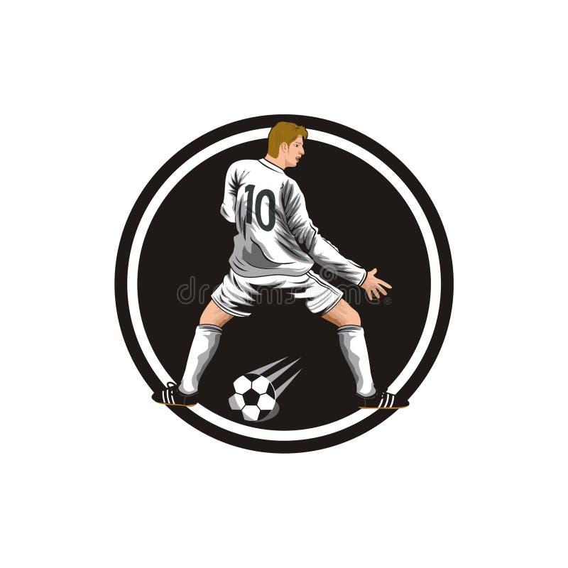 Fotbollsspelarevektor royaltyfri illustrationer
