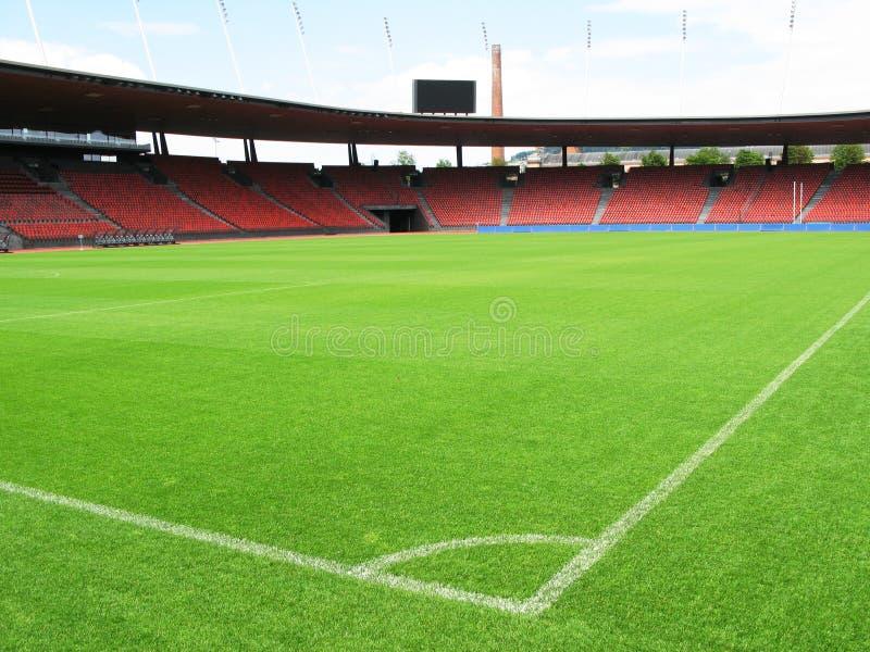 fotbollstadion fotografering för bildbyråer