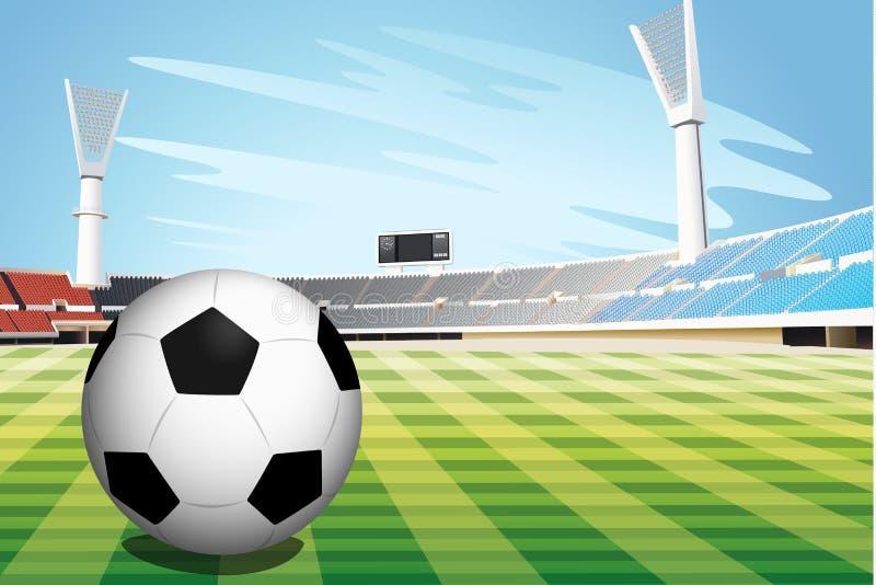 Fotbollstadion stock illustrationer