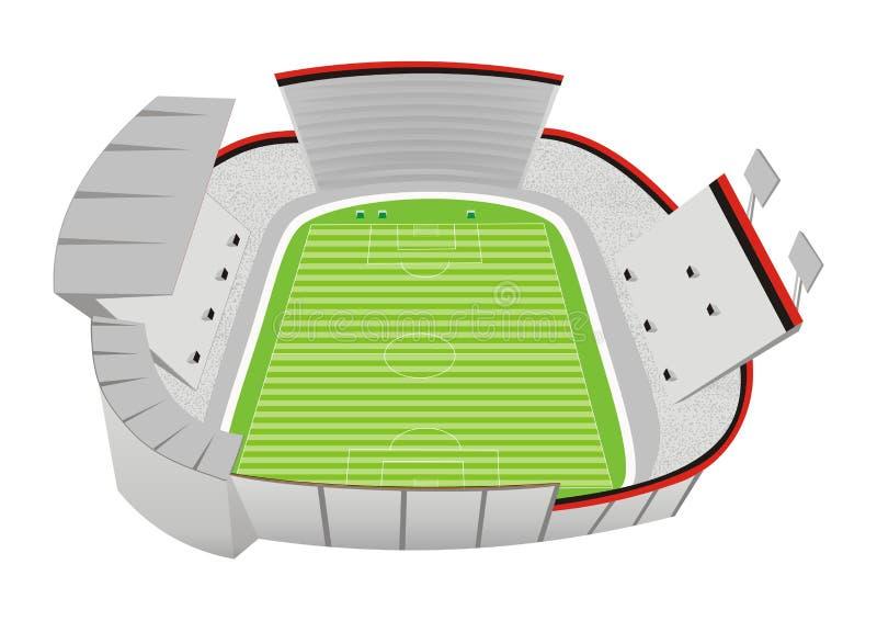 fotbollstadion royaltyfri illustrationer