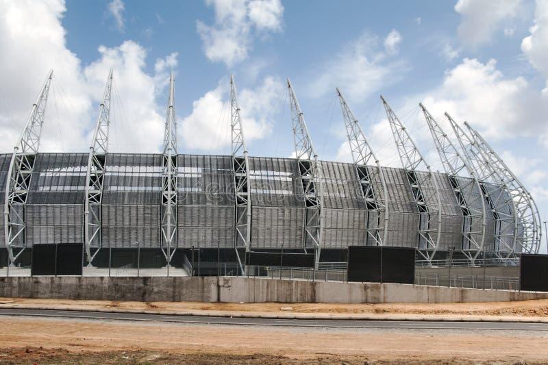 Fotbollstadion av Fortaleza, Brasilien royaltyfri bild