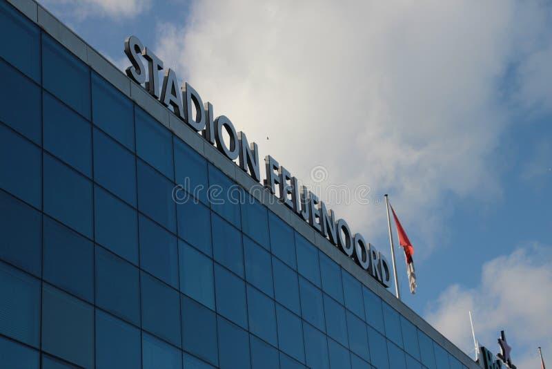 fotbollstadion i Rotterdam namngav de Kuip arkivbild