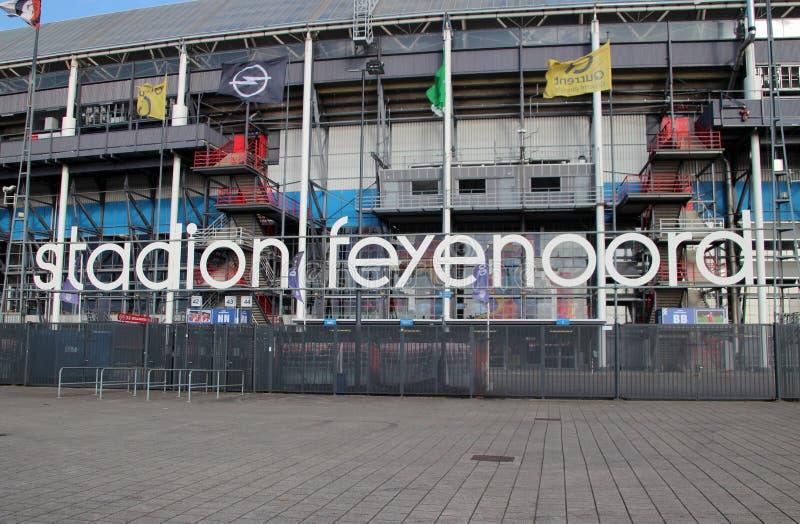 fotbollstadion i Rotterdam namngav de Kuip royaltyfri fotografi