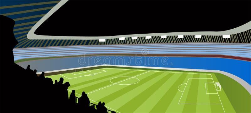 fotbollstadionvektor vektor illustrationer