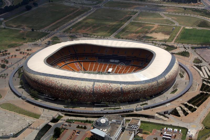 Fotbollstadsstadion, Soweto royaltyfria foton