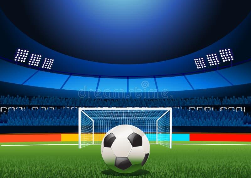 fotbollstraffstadion vektor illustrationer